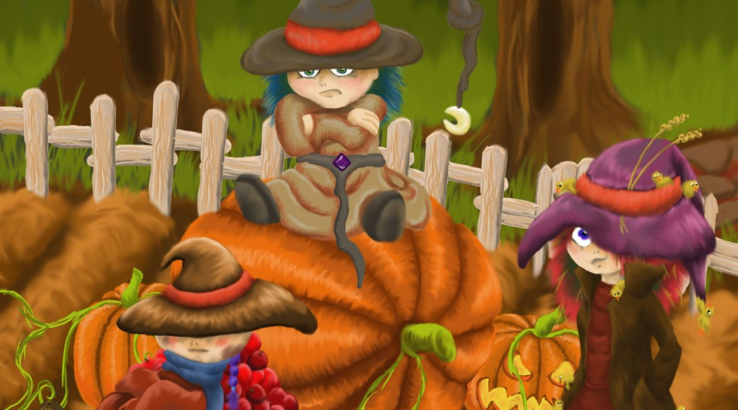 Characters from Halloween Harvest